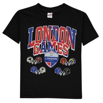 Tricou NFL London Games pentru copii negru