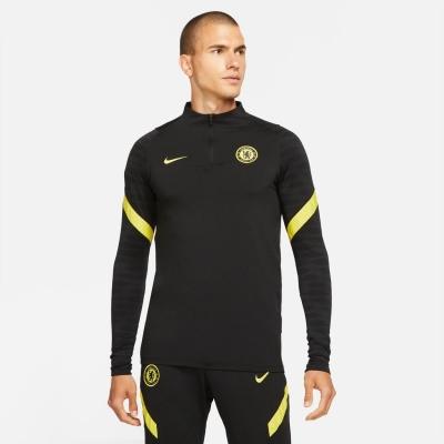 Nike Chelsea Strike Drill Top 2021 2022 pentru Barbati negru galben