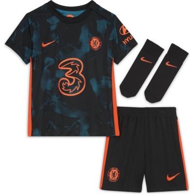 Nike Chelsea Third Kit 2021 2022 pentru Bebelusi albastru rosu