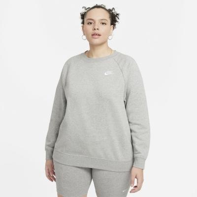 Bluza de trening Nike + Club Long Line pentru femei inchis gri negru