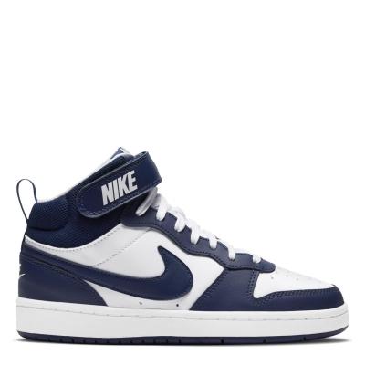 Nike Court Borough Mid 2 Big Shoe pentru Copii alb albastru inchis