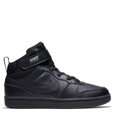 Nike Court Borough Mid 2 Little Shoe pentru Copii negru