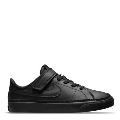 Nike Court Legacy Little Shoe pentru Copii triple negru