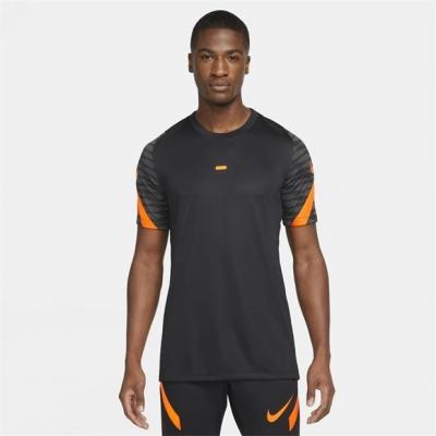 Nike Dri-FIT Strike Short-Sleeve Soccer Top pentru Barbati negru portocaliu