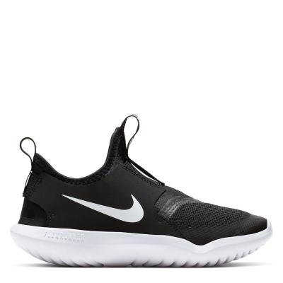 Nike Flex Runner Little Shoe pentru Copii negru alb