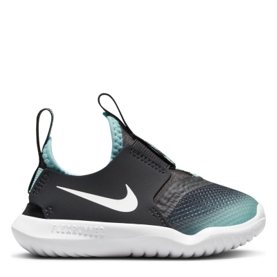 Nike Flex Runner / Shoe pentru Bebelusi pentru Bebelusi gri inchis alb albastru