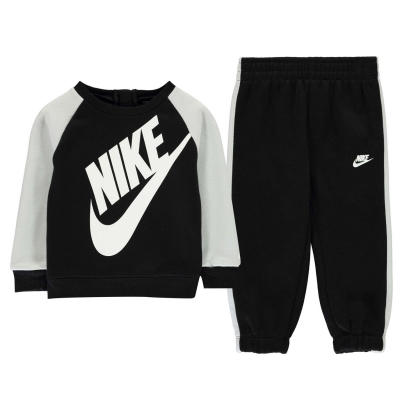 Set bebelusi Nike Futura Crew pentru baieti negru