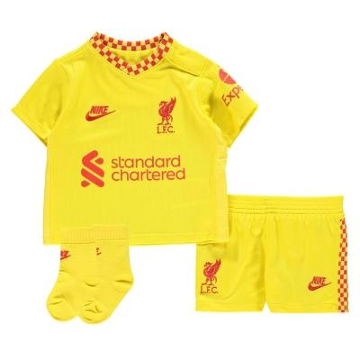 Nike Liverpool Third Kit 2021 2022 pentru Bebelusi galben