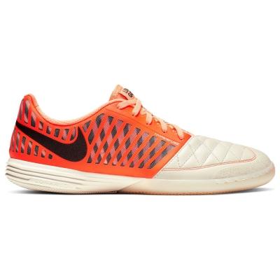 Adidasi fotbal de sala Nike Lunargato rosu inchis portocaliu