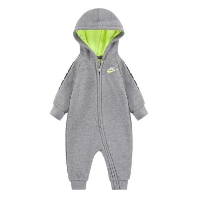 Nike Swoosh Coverall pentru baieti pentru Bebelusi gri carbon deschis