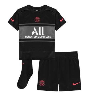 Nike Paris Saint Germain Third Kit 2021 2022 pentru Bebelusi negru