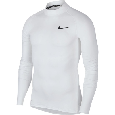 Nike Pro Long-Sleeve Top pentru Barbati alb