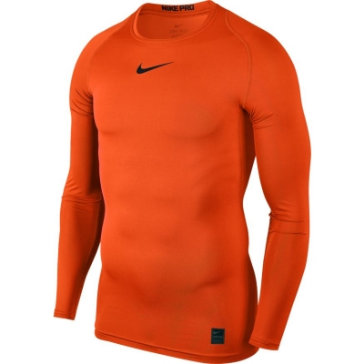 Tricou Nike Pro Top compresie maneca lunga portocaliu 838077 819 pentru barbati