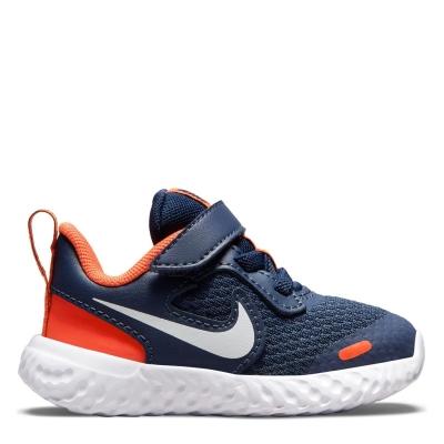 Nike Revolution 5 / Shoe pentru Bebelusi pentru Bebelusi bleumarin alb portocaliu