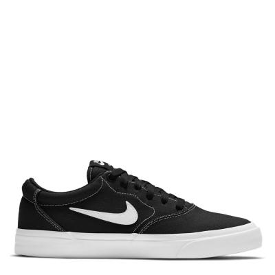 Nike SB Charge Canvas Skate Shoes pentru femei negru alb