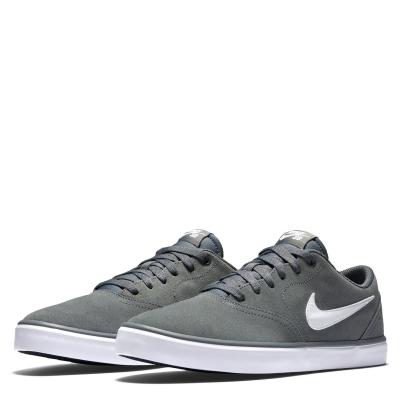 Skate Shoes Nike SB Check Solarsoft pentru Barbati gri alb