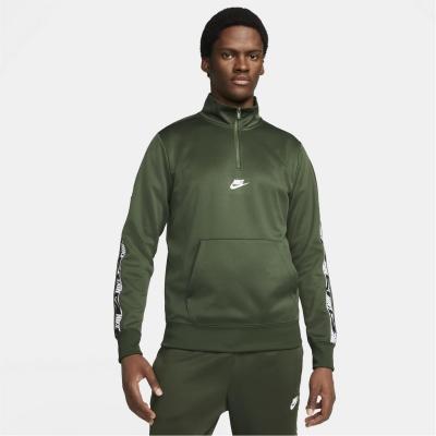 Nike Sportswear Half-cu fermoar pentru Barbati verde