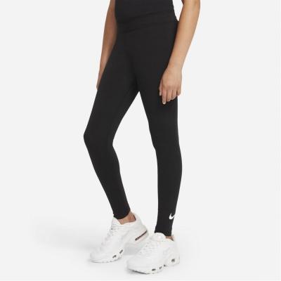 Nike Swoosh Tight pentru fetite negru alb
