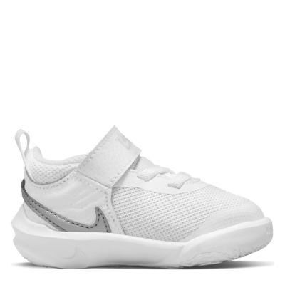 Nike Team Hustle D 10 / Shoes pentru Bebelusi pentru Bebelusi alb argintiu