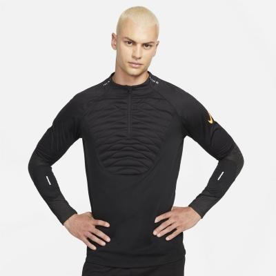 Nike Therma-Fit Strike iarna Warrior Drill Top pentru Barbati negru portocaliu