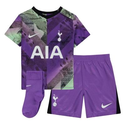 Nike Tottenham Hotspur Third Kit 2021 2022 pentru Bebelusi mov negru