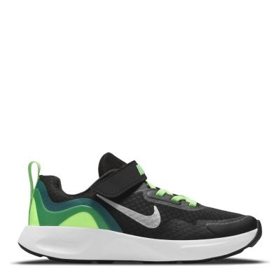 Nike WearAllDay Little Shoe pentru Copii negru argintiu verde