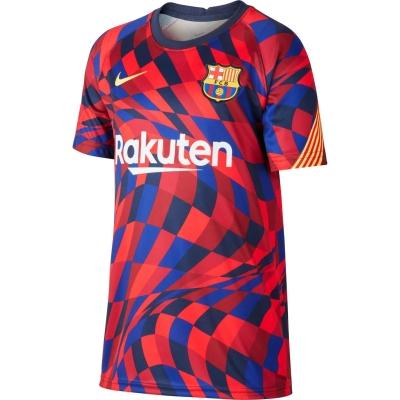 Tricou Nike FC Barcelona Pre Match Juniors rosu