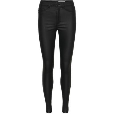 Pantaloni Noisy May negru coated