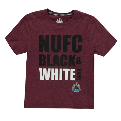 Tricou NUFC Army pentru baietei rosu burgundy marl