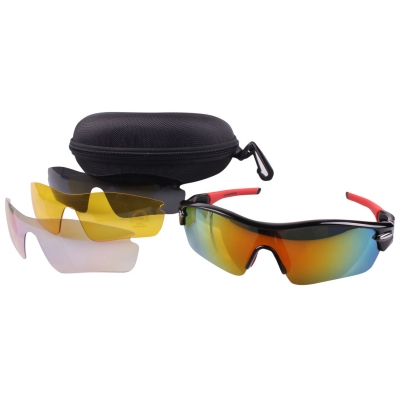 Ochelari de soare Muddyfox 300 ciclism pentru Barbati negru rosu