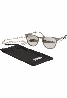 Ochelari de soare Arthur cu lant gri-argintiu Urban Classics