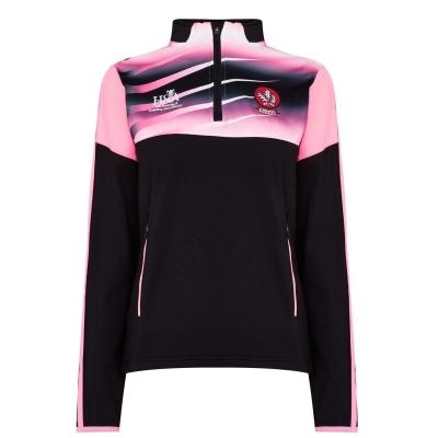 Bluza cu fermoar ONeills Derry Portland pentru femei negru roz