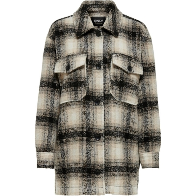 Only Check Shacket Ld14 pumice maro deschis