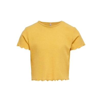 Only jersey Top pentru fete galben