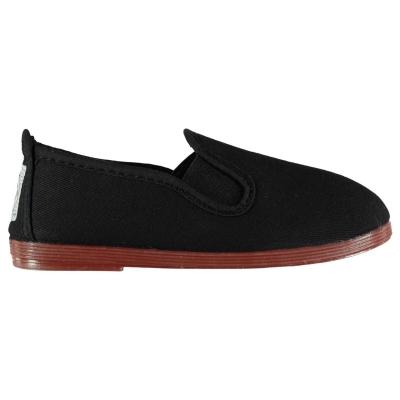 Flossy Pamplona Slip On Plimsolls negru