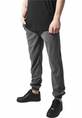 Pantaloni Stretch Twill Jogging Urban Classics gri inchis