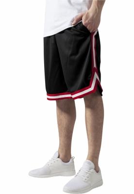 Pantalon hip hop cu dungi negru-rosu Urban Classics alb