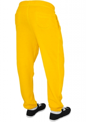 Pantalon sport spray dye galben Urban Classics