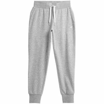 Pantaloni 4F Cool gri deschis Melange NOSH4 SPDD350 27M pentru femei