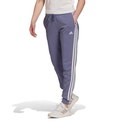 Pantaloni adidas 3-Stripes Slim pentru femei violet alb