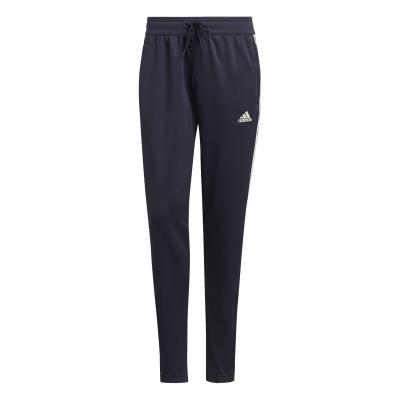 Pantaloni adidas fotbal Sereno Slim pentru femei bleumarin alb