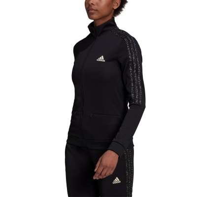 Pantaloni adidas fotbal Sereno Slim pentru femei negru gri alb