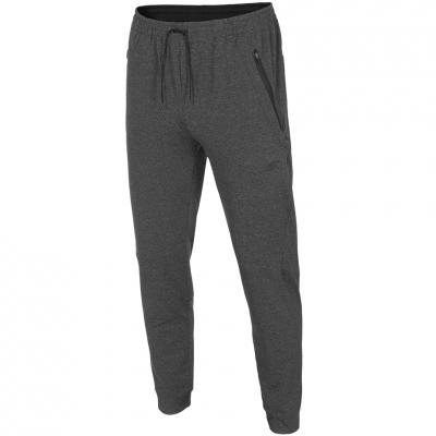 Pantaloni barbati 4F Fitness H4Z18 SPMTR001 23M gri inchis Melange