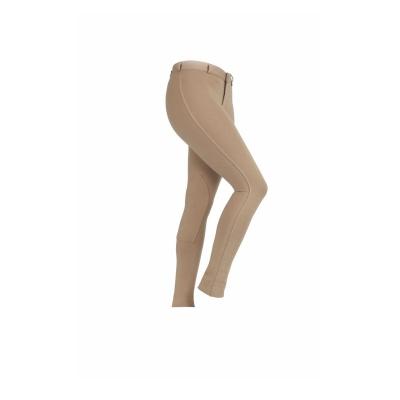 Pantaloni calarie Shires Saddlehugger pentru copii bej