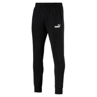 Pantaloni caldurosi Puma conici pentru Barbati negru alb