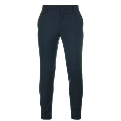 Pantaloni Calvin Klein Check albastru capitan cjm