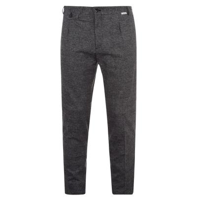 Pantaloni Calvin Klein conici Check gri 0me