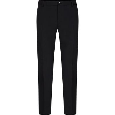 Pantaloni Calvin Klein Wool conici negru