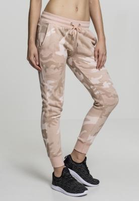 Pantaloni Camo Terry pentru Femei roz-camuflaj Urban Classics