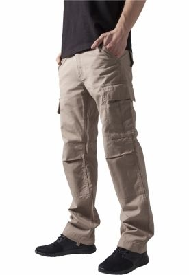 Pantaloni camuflaj barbati bej Urban Classics